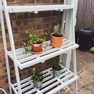 homemade herb bench 2
