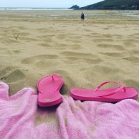 flip flops and towel - beach