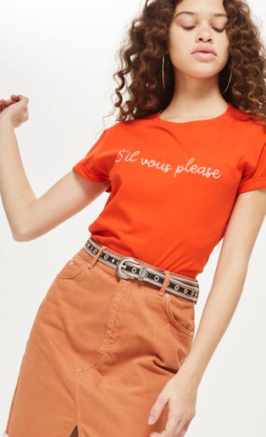 'Sil Vous Please' Slogan T-Shirt £12